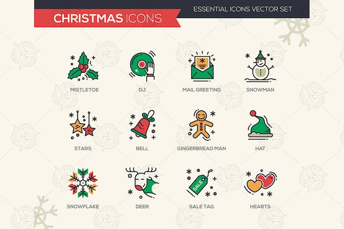 Christmas and new year line design icons set by boykopictures on cover image for christmas and new year line design icons set m4hsunfo