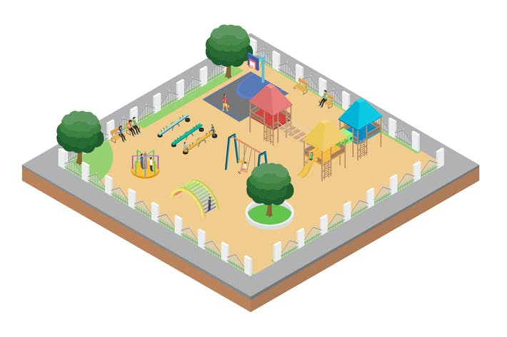 Thumbnail for Garden Isometric Illustration