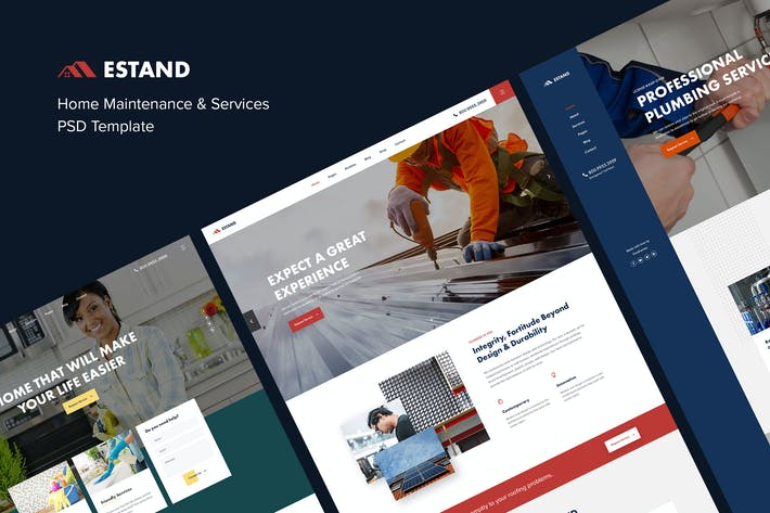 Thumbnail for Estand | Home Maintenance & Services PSD Template