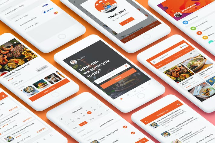 Thumbnail for Food Mobile App UI Kit