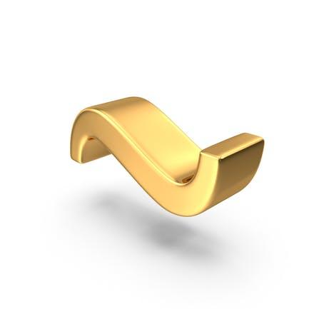 Gold Tilde Symbol