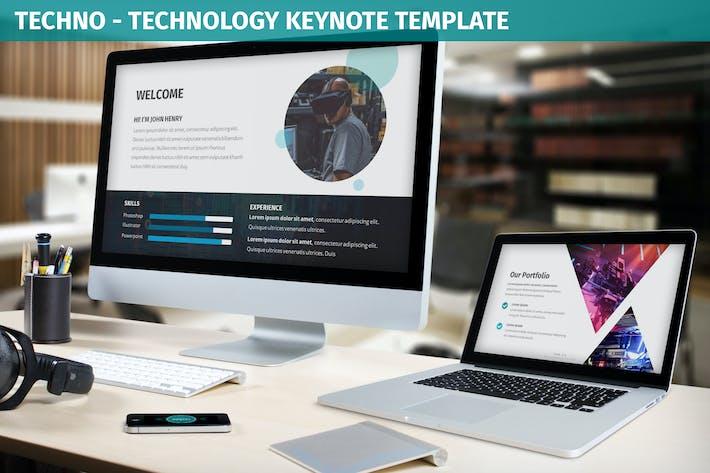 Thumbnail for Techno - Technology Keynote Template