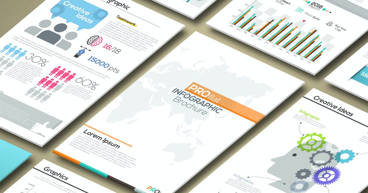 Download Pro Flat Infographic Brochures by Andrew_Kras