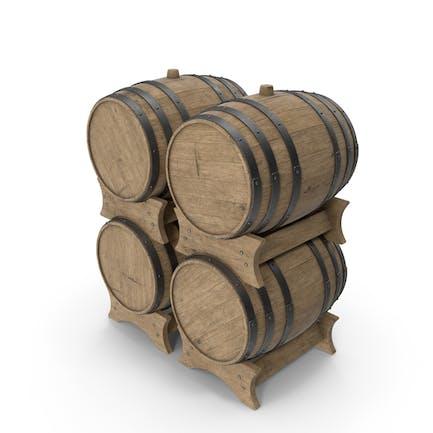 Набор деревянных бочек из бука с прожилками