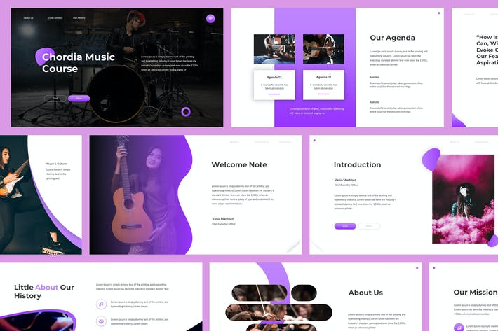 Thumbnail for Chordia - Music Powerpoint Template