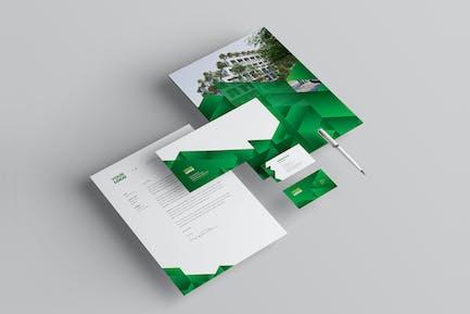 Papeterie écologique verte