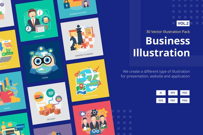 Thumbnail for Business Vector Illustration Vol.2