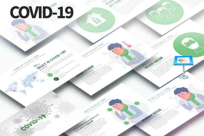 Cover Image For COVID-19 - Keynote Infographics Slides