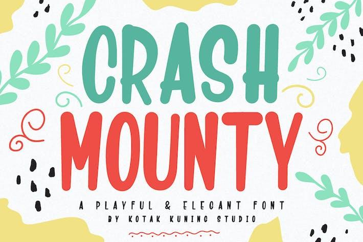 Thumbnail for Crash Mounty - Fonte de exibição brincalhão