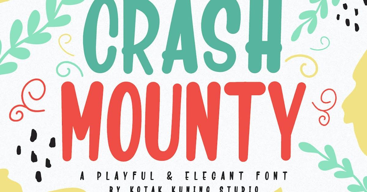 Download Crash Mounty - Playful Display Font by kotakkuningstudio