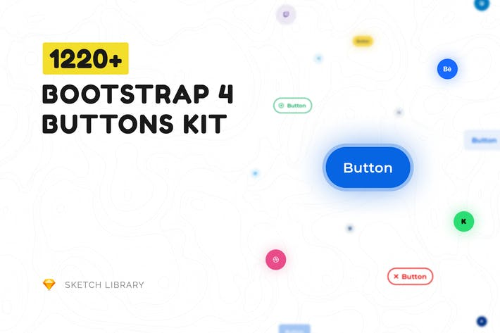 Thumbnail for Buttons Kit – Sketch Library mButtons