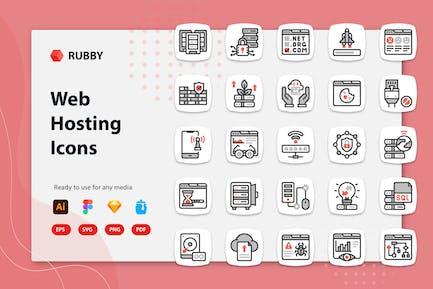 Rubby - Web Hosting Icons