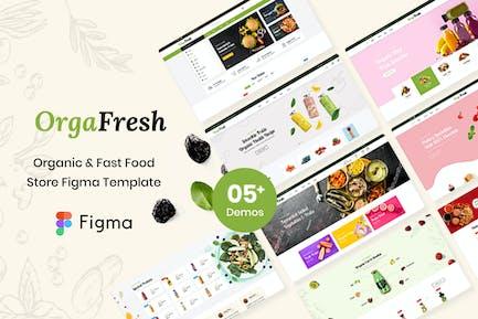 OrgaFresh   Bio- und Fastfood-Geschäft Figma Templa