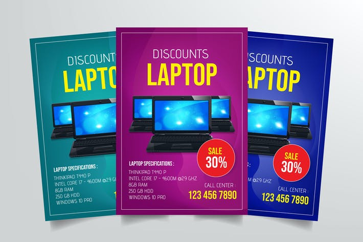 Thumbnail for Laptop Sale Flyer Template