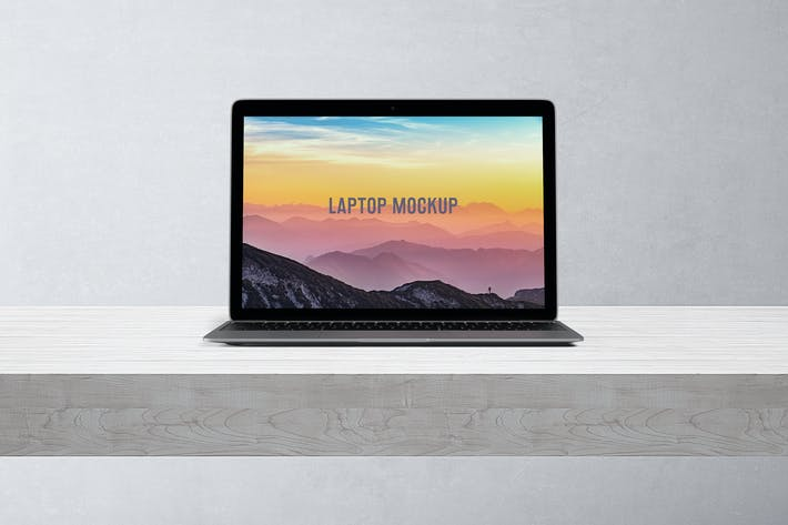 Thumbnail for 14x9 Laptop Screen Mock-Up - Space Gray