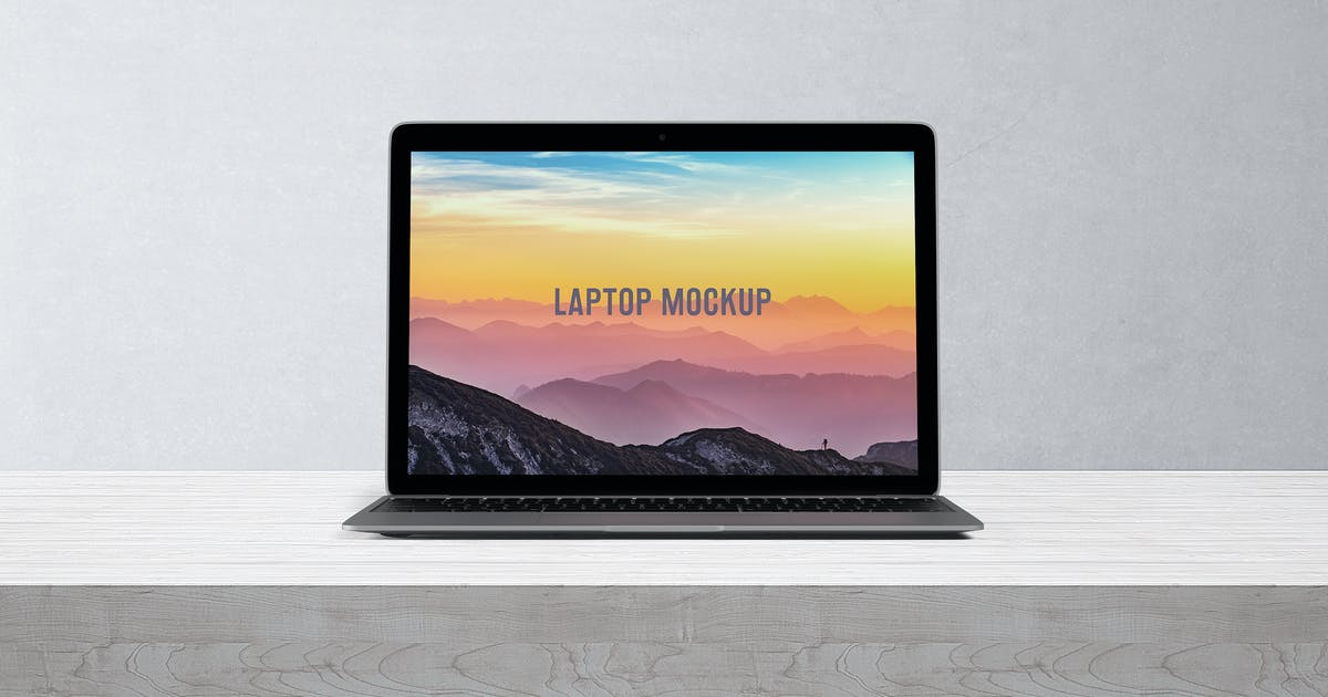 Download 14x9 Laptop Screen Mock-Up - Space Gray by professorinc