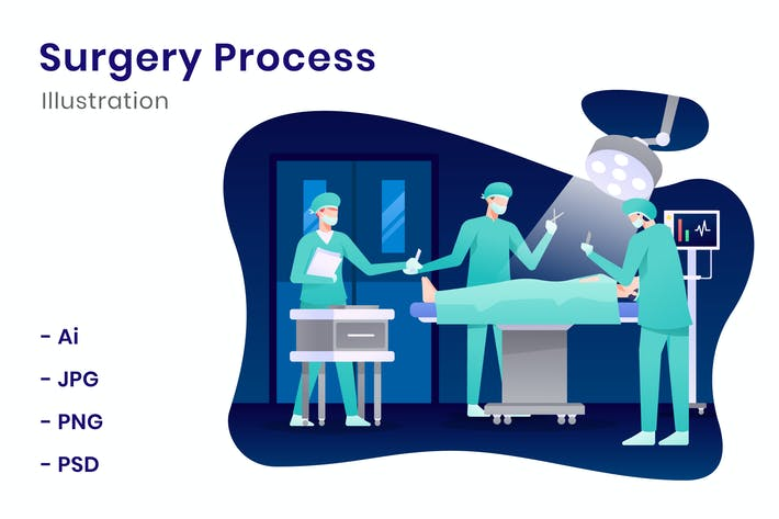 Thumbnail for Surgery Process Illustration