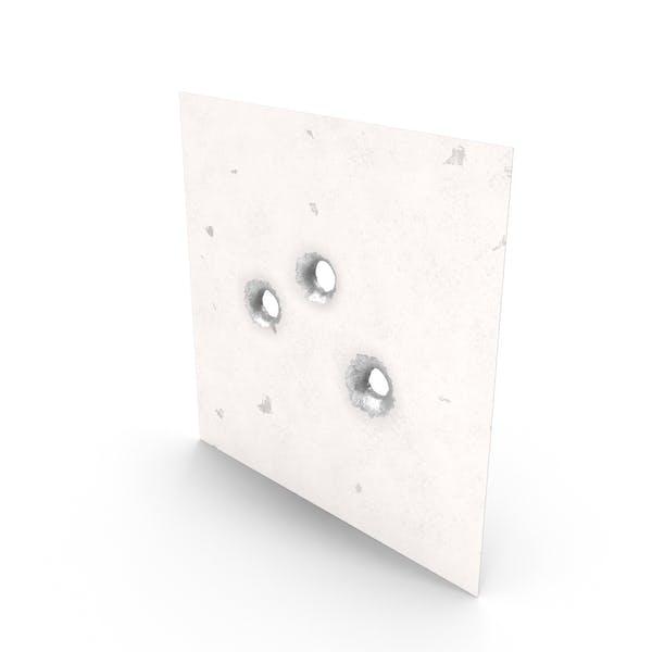 Bullet Holes in Metal