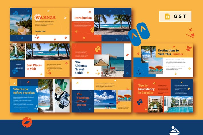 Thumbnail for VACANZA - Vacation Google Slides Template