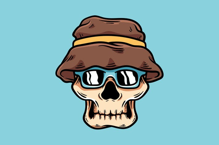 Thumbnail for Skull With Hat And Glasses