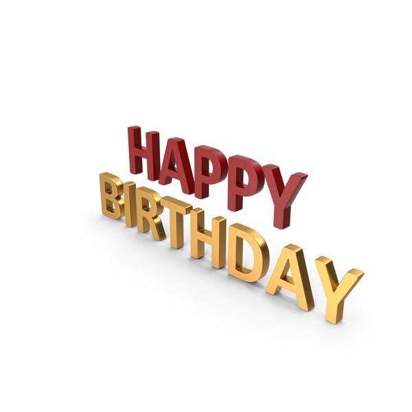 Thumbnail for Happy Birthday Symbol Rot und Gold