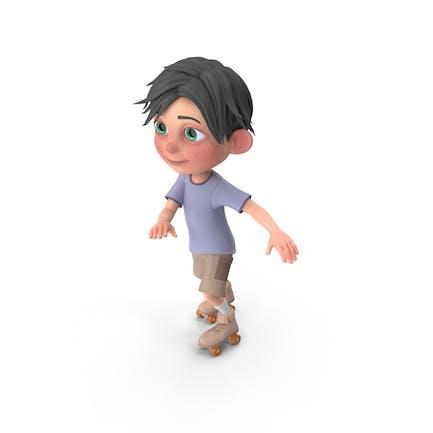 Cartoon Junge Jack Skating