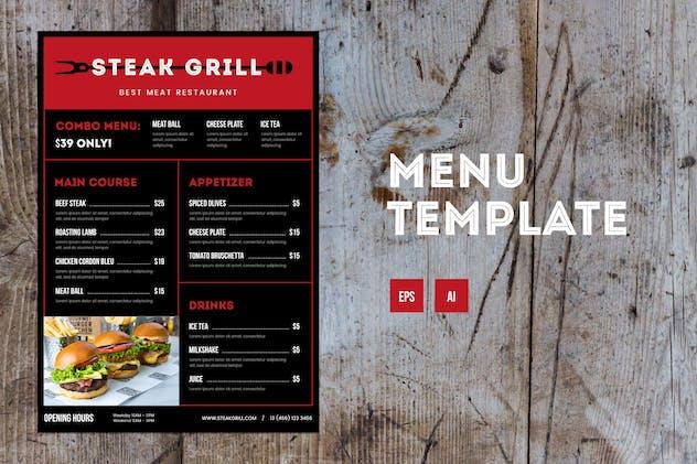 Restaurant Food Menu Template – 03