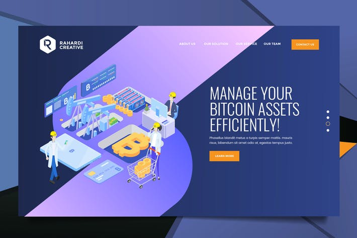 Thumbnail for Bitcoin Web Header PSD & Vector Template Vol. 04