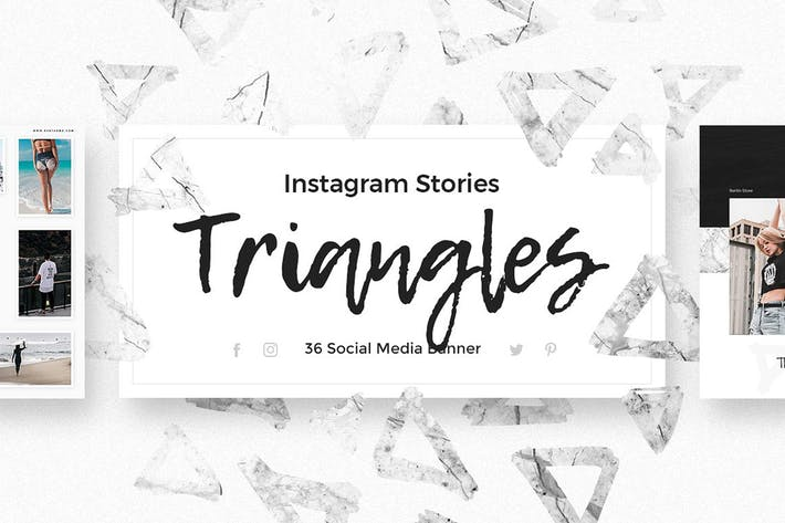 Thumbnail for Triangles - Instagram Stories Pack