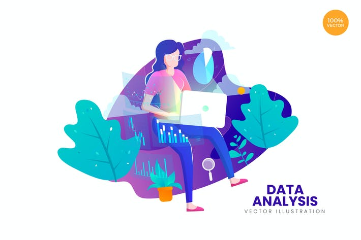 Thumbnail for Data Analysis Vector Illustration Concept
