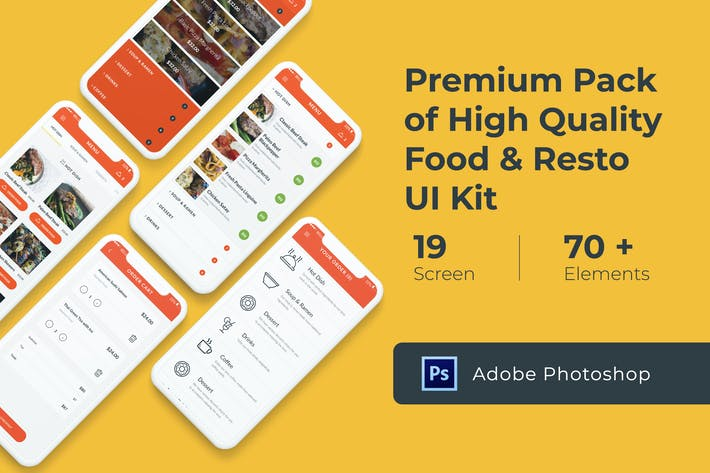 Thumbnail for Food and Resto UI KIT for Photoshop