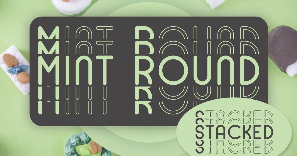Mint Round - Stacked - Mirrored Font by Muse-Master