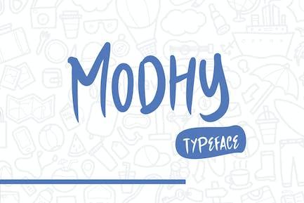 Modhy - A Handmade Playful Typeface
