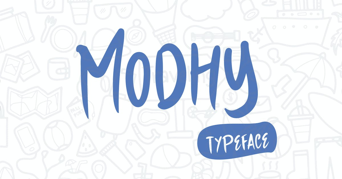 Download Modhy - A Handmade Playful Typeface by IanMikraz