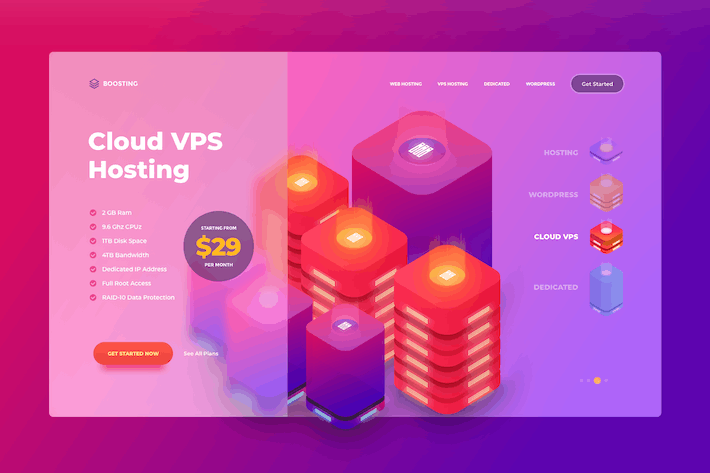 Thumbnail for Cloud VPS Hosting - Website Header