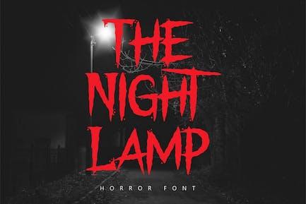 The Night Lamp - Horror Font