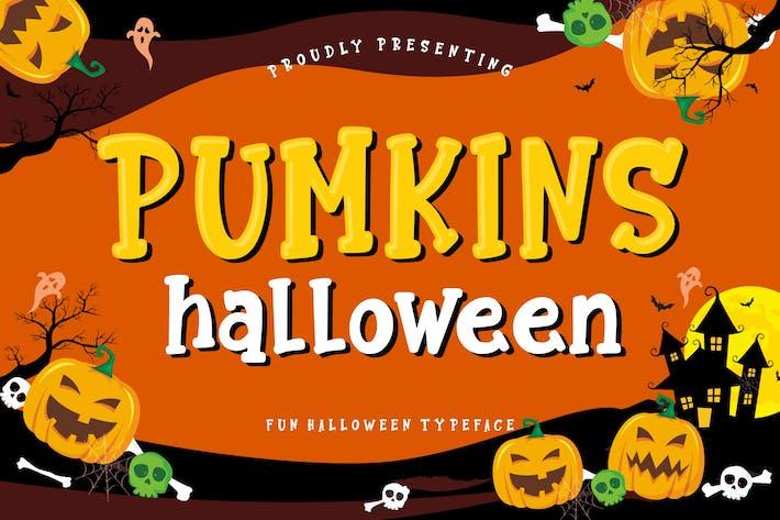 Thumbnail for Pumkins Halloween Fun Typeface