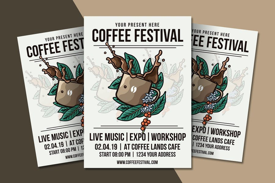 Coffee Festival Flyer Template