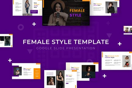 Женский стиль - Шаблон слайда Google
