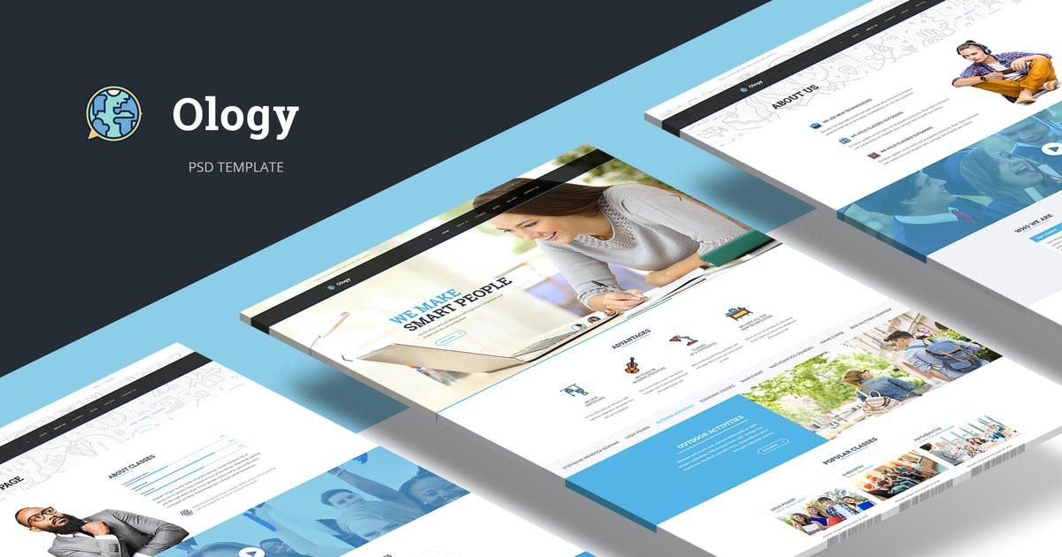 Download Ology — Education | Courses | Classes PSD Template by torbara