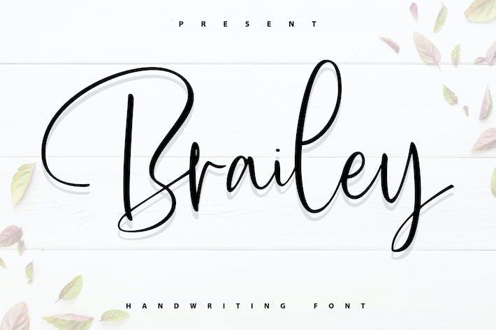 Brailey | Handwriting Font