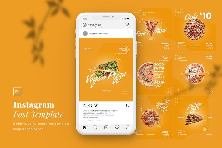 Thumbnail for Pizza Instagram Post modèle