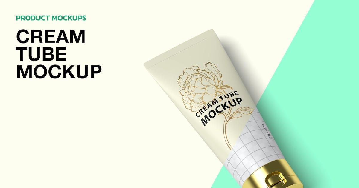 Download Cream Tube - Mockup by graptailstudio