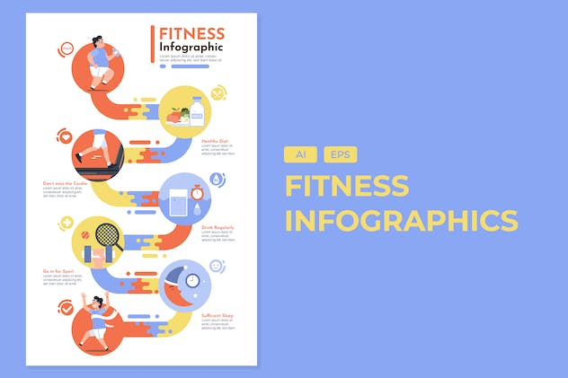Fitness - Healthy Infographics - product preview 0