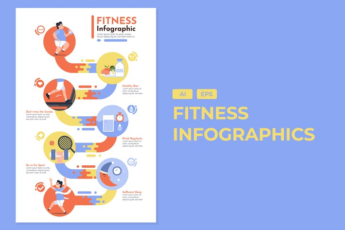 Thumbnail for Fitness - Gesunde Infografiken