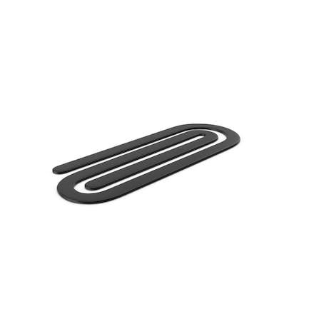 Plastic Paper Clip Black