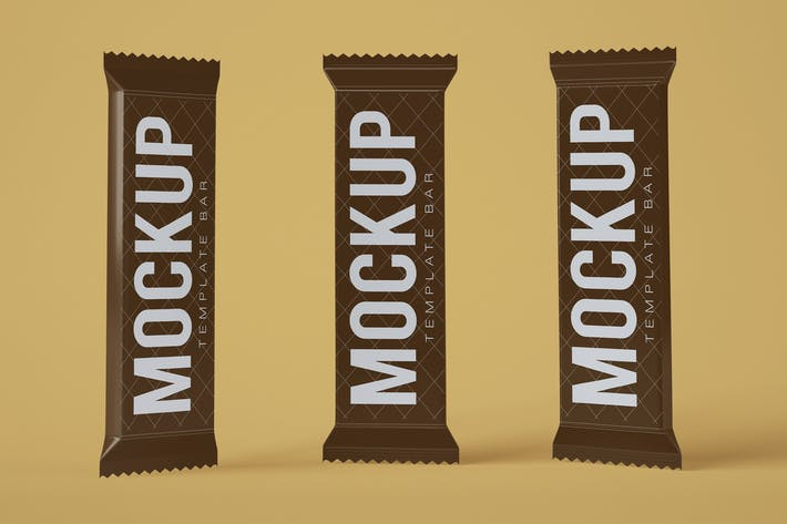 Thumbnail for Chocolate Snack Bar Mockup