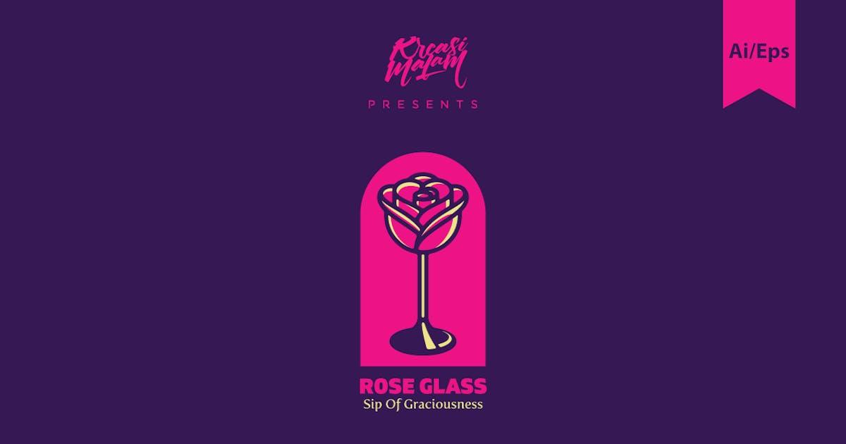 Download Rose Glass Logo Template by Ijajil