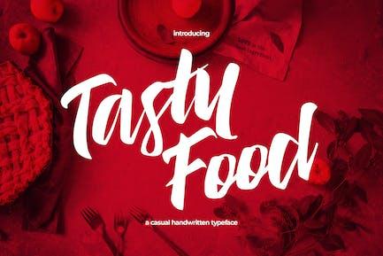 Tasty Food - Tipo de letra casual manuscrita