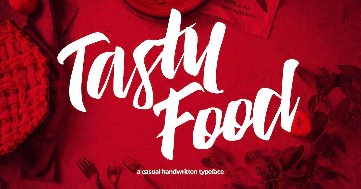Download Tasty Food - Casual Handwritten Typeface by Slidehack